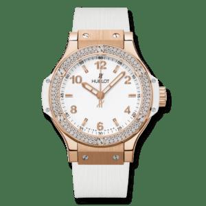 HUBLOT Часы Big Bang 38 мм white rubber strap