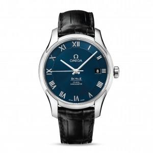 OMEGA Часы De Ville Chronometer Blue Dial Leather Strap