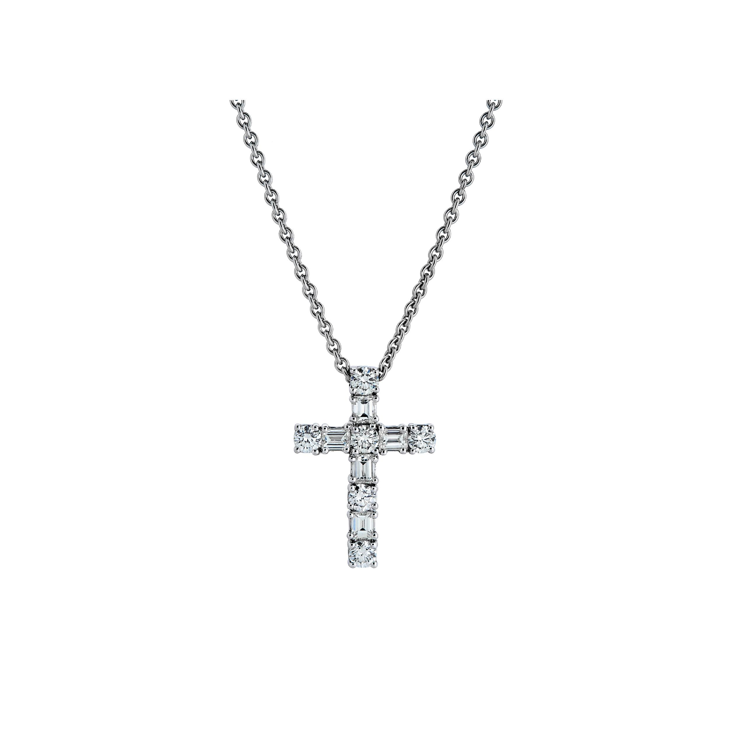 CHATE Крестик с бриллиантами 0,67 ct
