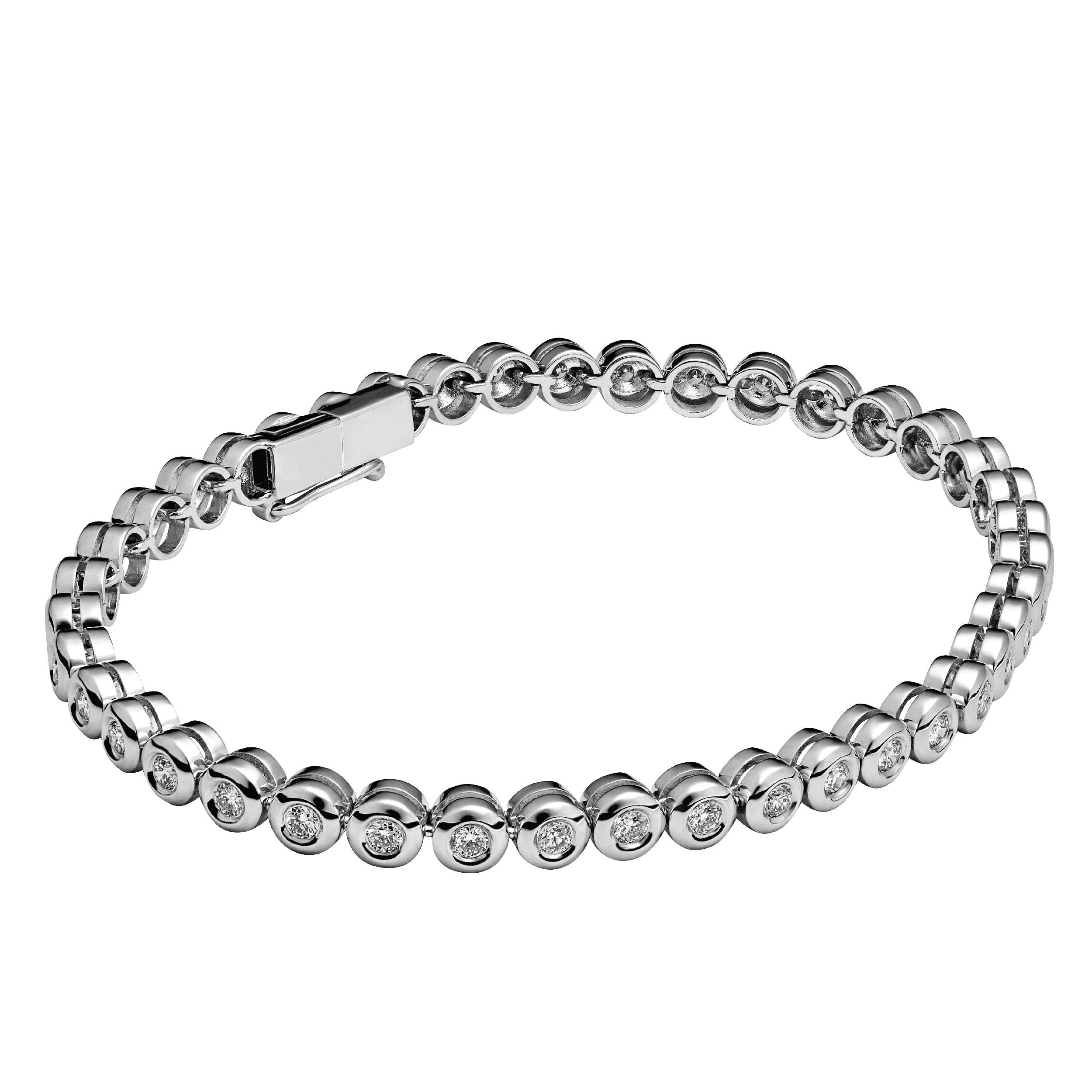 CHATE Браслет-теннис White gold 16,60 г