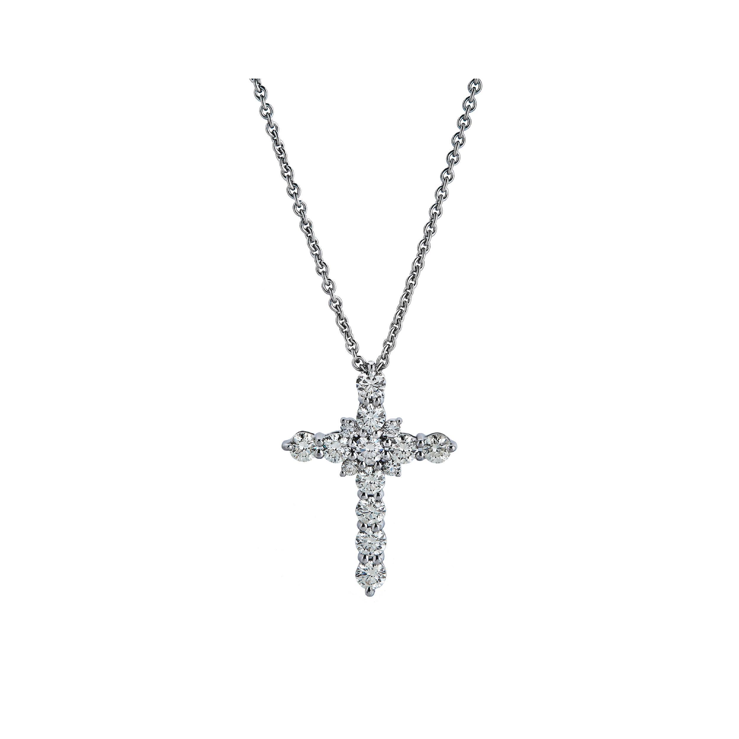 CHATE Крестик с бриллиантами 1,86 ct