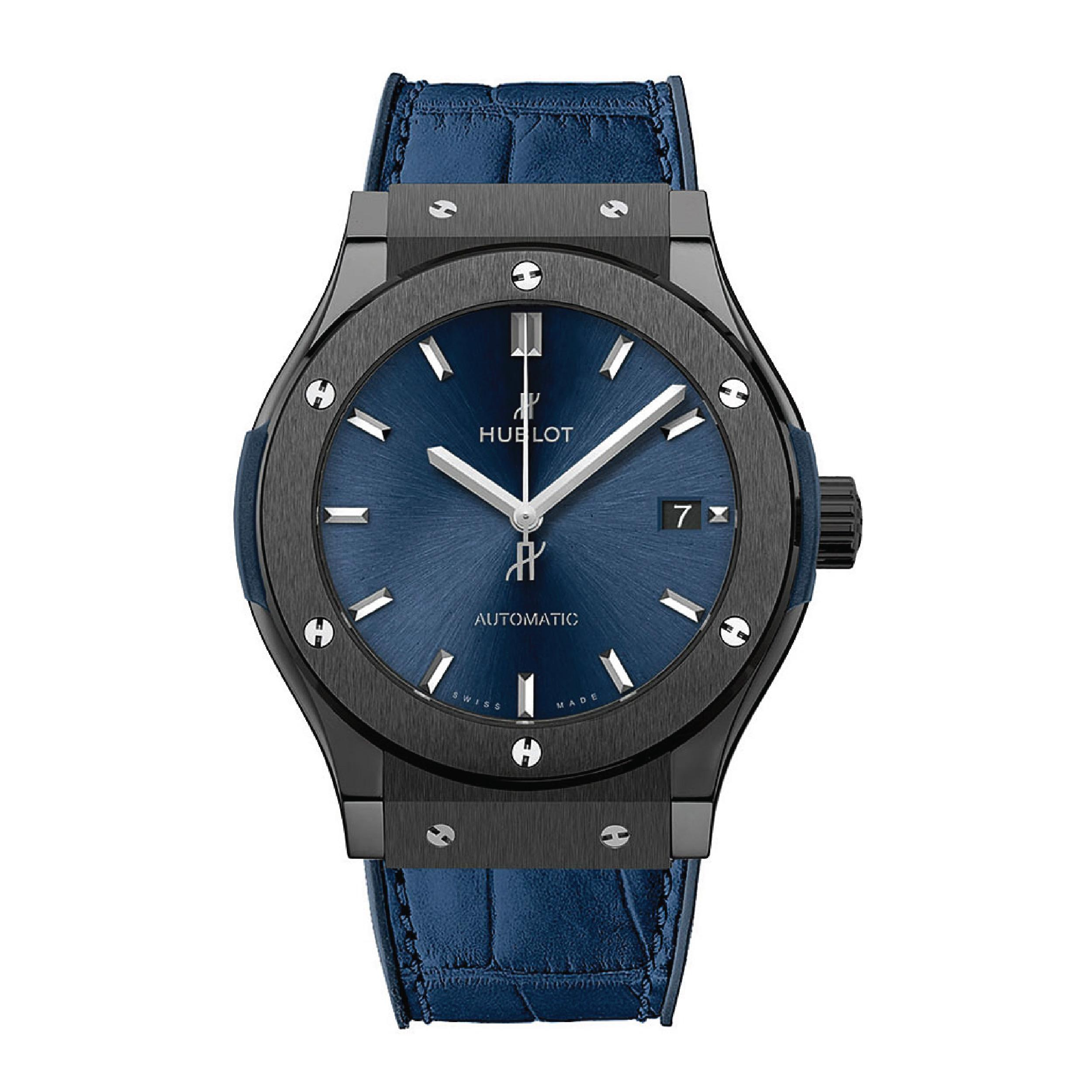 HUBLOT Часы CLASSIC FUSION CERAMIC BLUE 45 mm