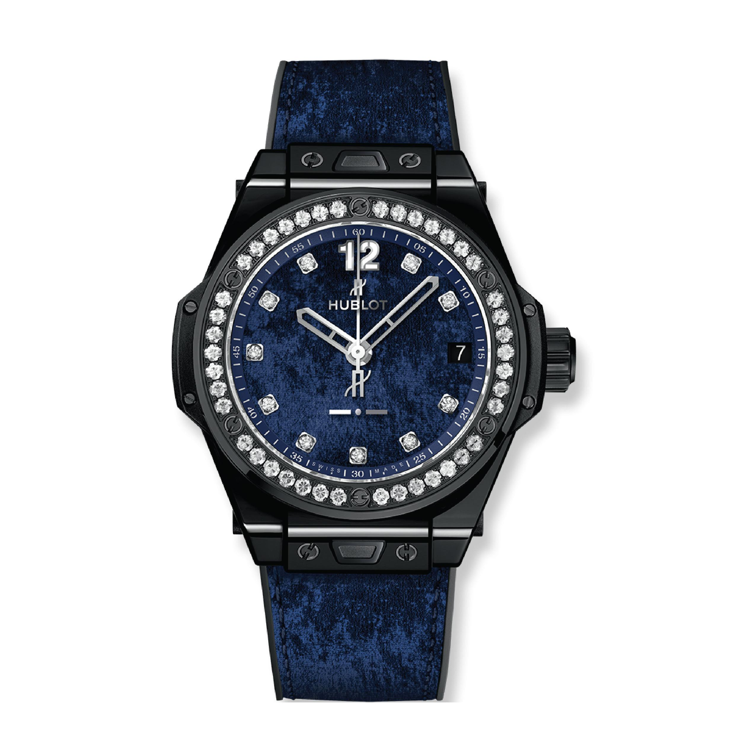 Hublot Часы Big Bang Italia Independent Dark Blue Velvet