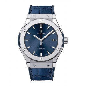 HUBLOT Часы CLASSIC FUSION BLUE TITANIUM 45mm