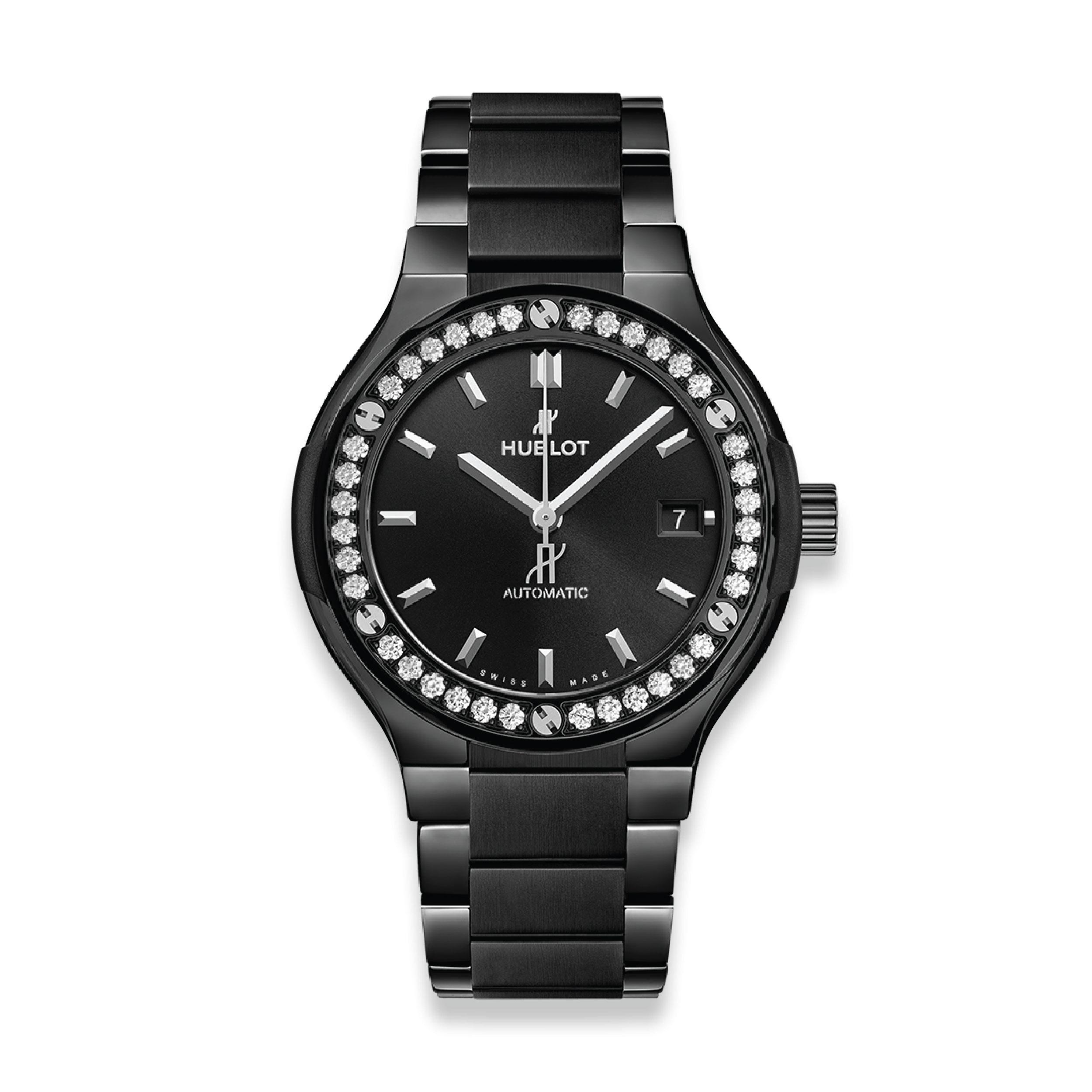 CLASSIC FUSION BLACK MAGIC BRACELET DIAMONDS 38 mm