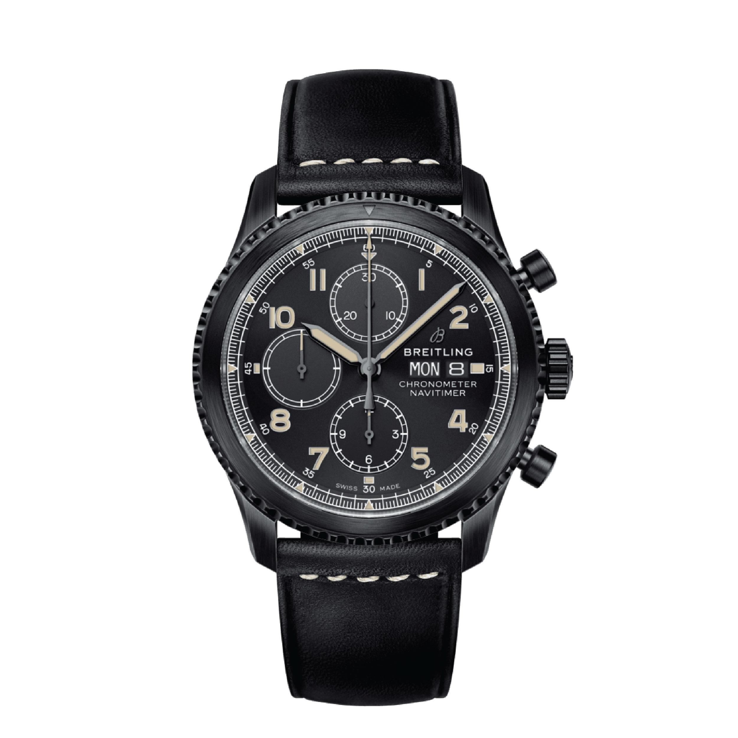 BREITLING ЧАСЫ  NAVITIMER 8 CHRONOGRAPH 43 black steel