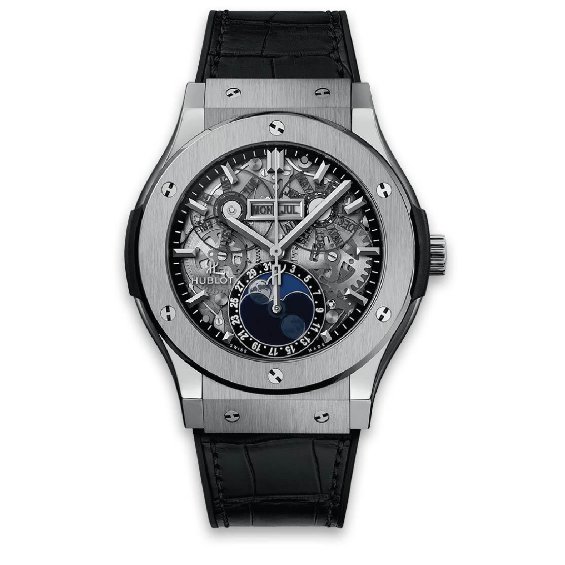 HUBLOT ЧАСЫ CLASSIC FUSION AEROFUSION MOONPHASE TITANIUM 45 mm