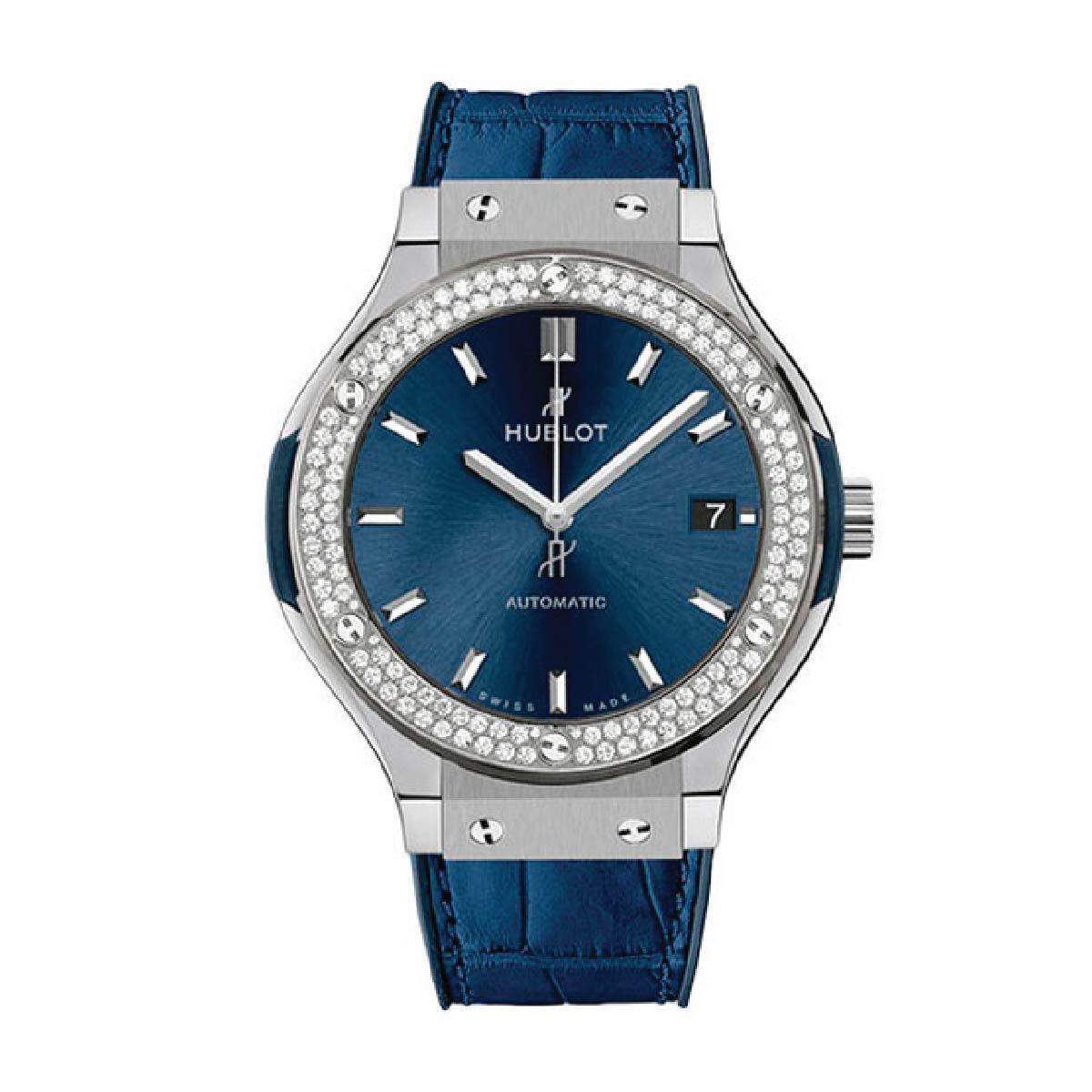 HUBLOT ЧАСЫ CLASSIC FUSION BLUE TITANIUM 38 MM 0,78 ct