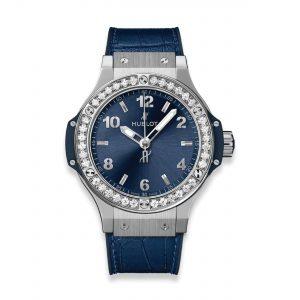 HUBLOT ЧАСЫ BIG BANG STEEL BLUE DIAMONDS