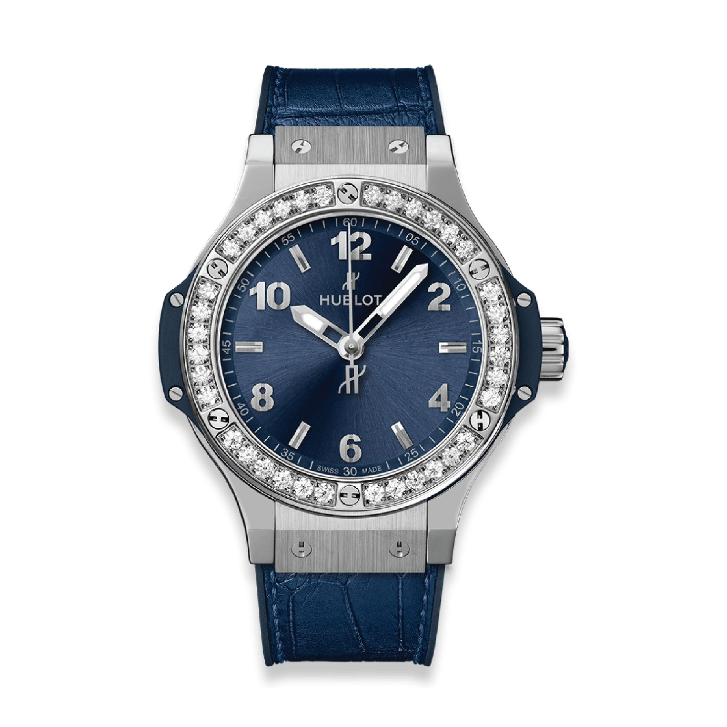 HUBLOT ЧАСЫ BIG BANG STEEL BLUE DIAMONDS