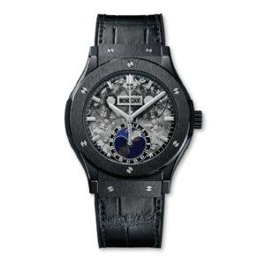 HUBLOT ЧАСЫ CLASSIC FUSION AEROFUSION MOONPHASE BLACK MAGIC 45 mm
