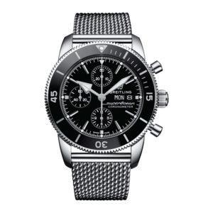 BREITLING Часы Superocean Heritage II  Chronograph 44 Silver