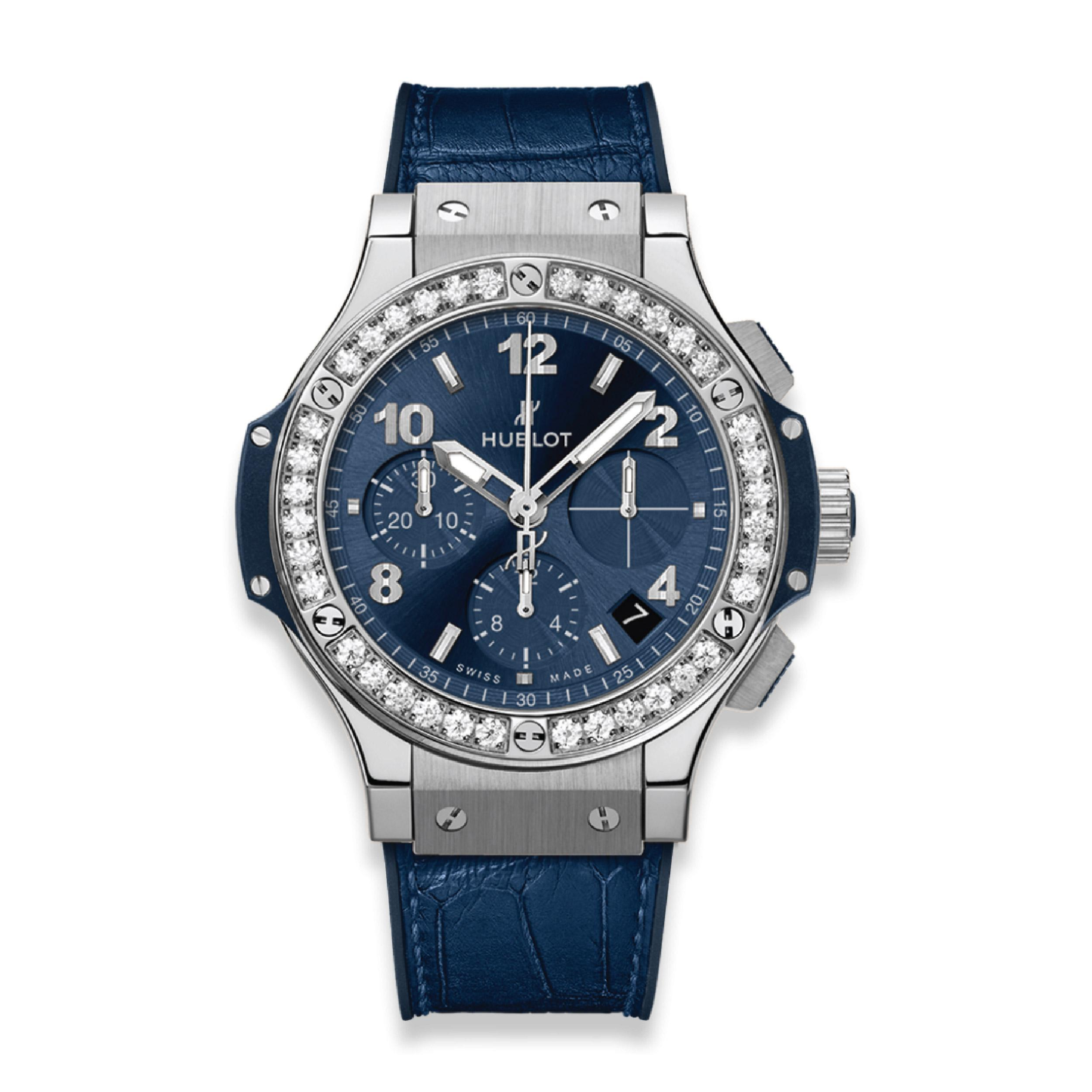 HUBLOT ЧАСЫ BIG BANG STEEL BLUE DIAMONDS 41 mm