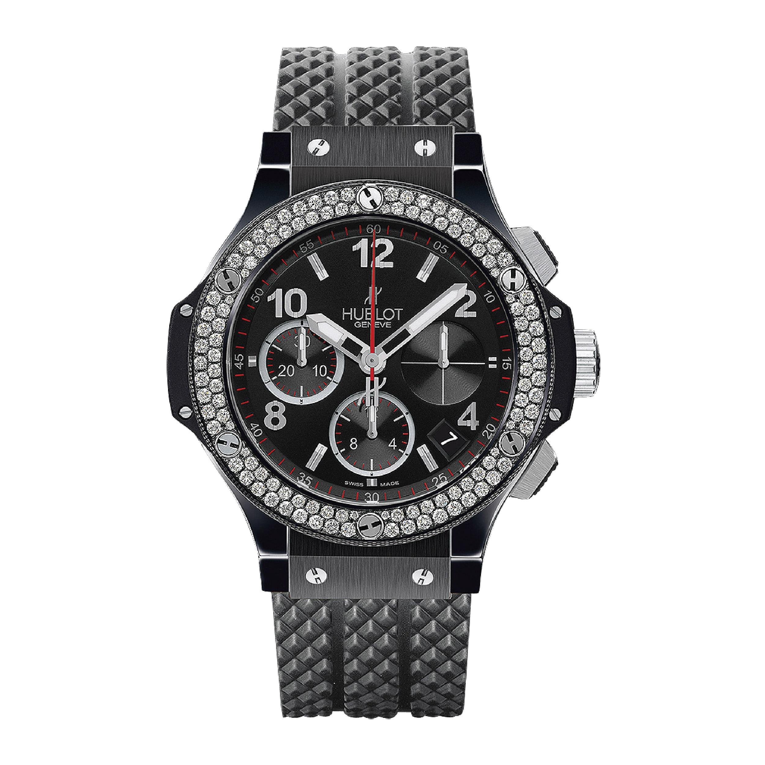 HUBLOT Часы Big Bang Black Magic Diamonds 41 мм