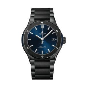 HUBLOT Часы CLASSIC FUSION CERAMIC BLUE BRACELET 45 mm