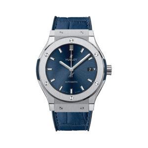 HUBLOT Часы CLASSIC FUSION BLUE TITANIUM 42 mm