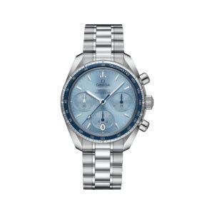 Omega часы SPEEDMASTER 38 CO‑AXIAL CHRONOMETER CHRONOGRAPH 38 MM blue