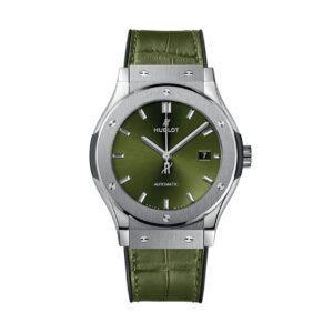 HUBLOT Часы CLASSIC FUSION GREEN TITANIUM 45mm